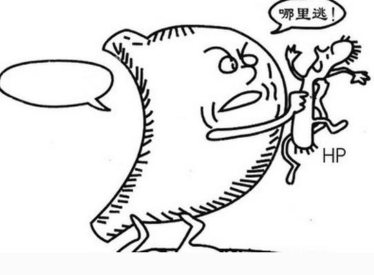 手绘大肠杆菌形态图