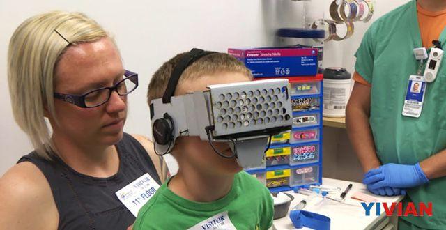 借助VR 这家医院的小孩都忘记了打针的疼痛
