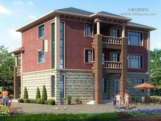 6x17.7米豪华型别墅,霸气外露采用砌体结构.
