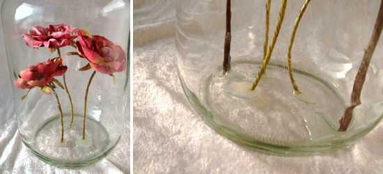 用玻璃瓶制作漂亮的干花摆件手工diy图解