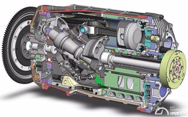 式的活塞式发动机都不同,其他的都是曲轴端输出,但这种旋转汽缸星型气