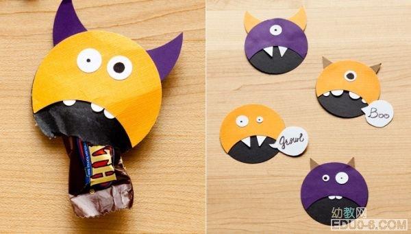 幼儿园万圣节手工制作:糖果创意