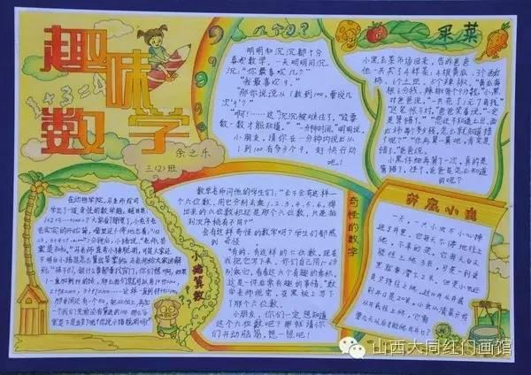 探索数学世界,全国数学获奖手抄报集锦!
