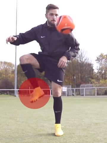 如何用脚舒服地停下高空球