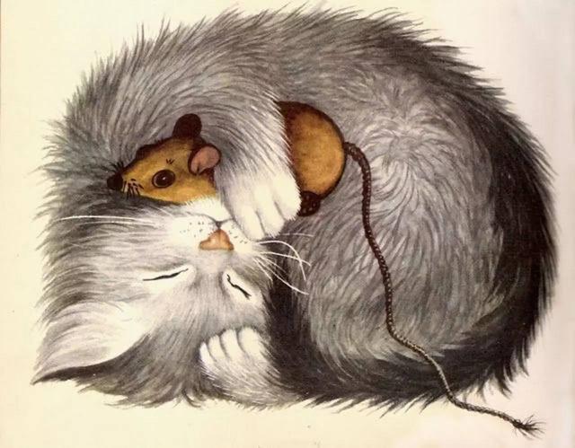 手绘插画教程|猫与鼠的相爱相杀
