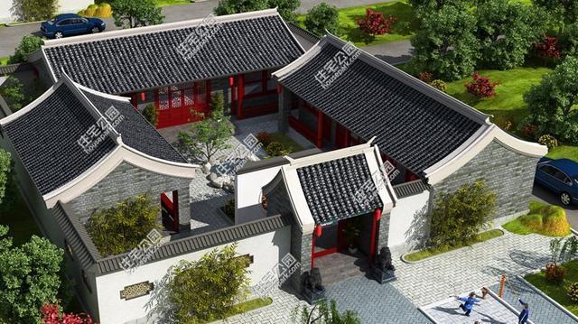 6套中式四合院户型分享,真正的农村房应该长这样图片