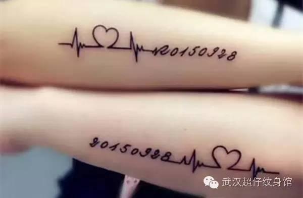 心电图纹身|一种心跳的感觉