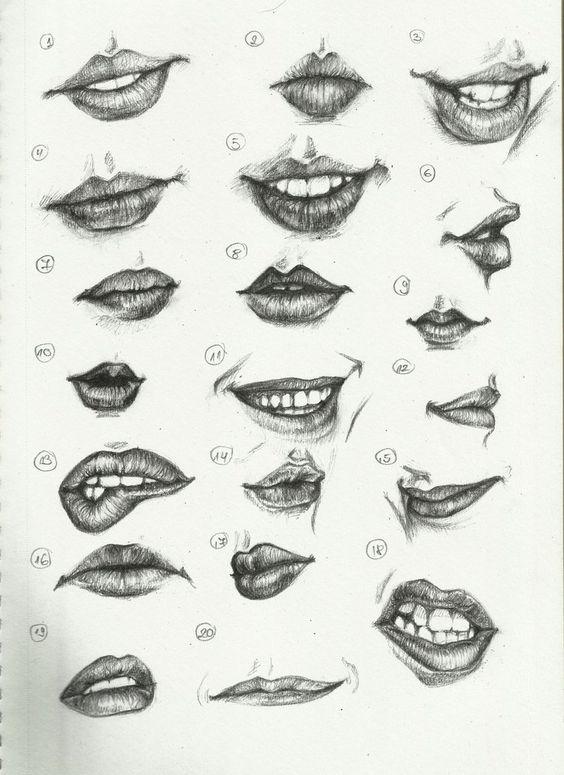 唇唇欲动 嘴型画法速看