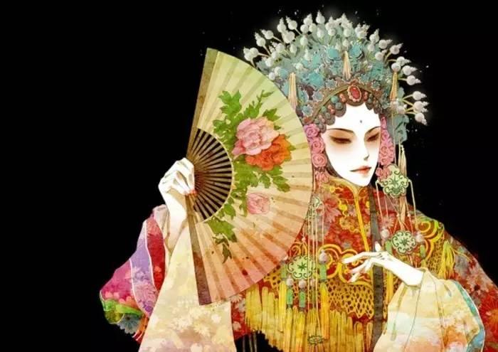京剧,动漫戏曲女孩,古风京剧,动漫少女 唯美动漫美女图片——请原文阅