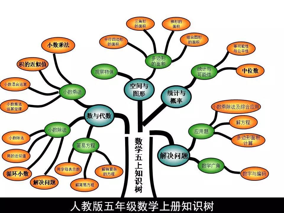 五年级(上)数学知识树