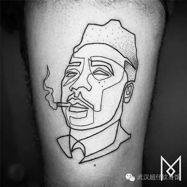 一笔纹身|文艺青年们的最佳选择