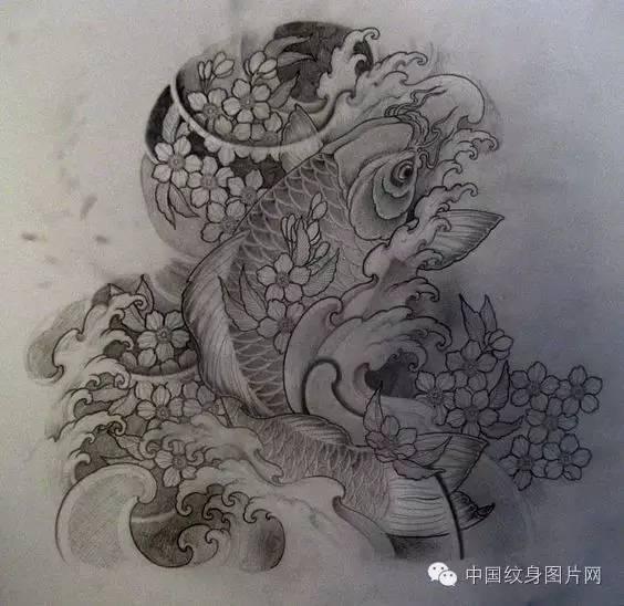 锦鲤纹身素材图片