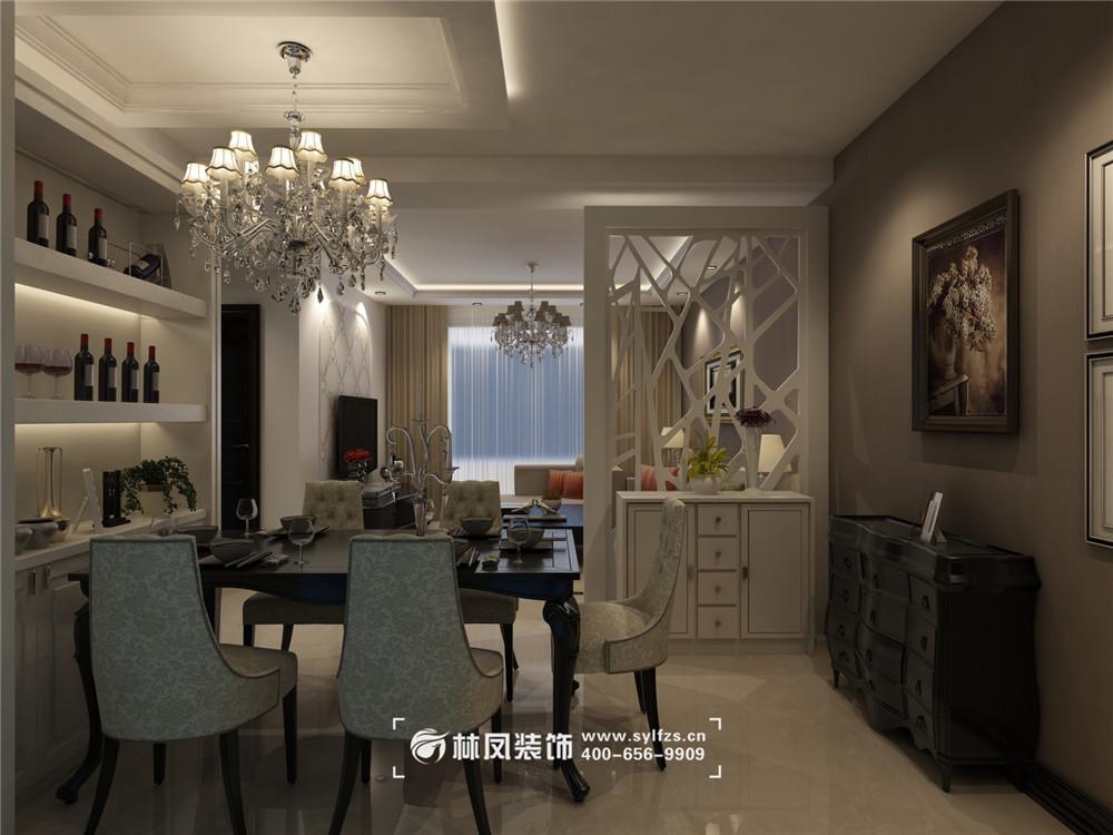 碧桂园银河城都荟90平简欧风格装修效果图图片