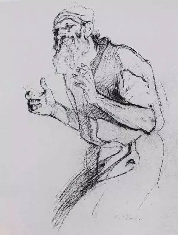 列宾速写人物临摹图