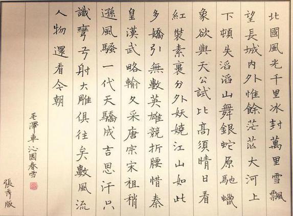 女书法家张秀作品10图:因硬笔书法一举成名!_搜狐文化图片