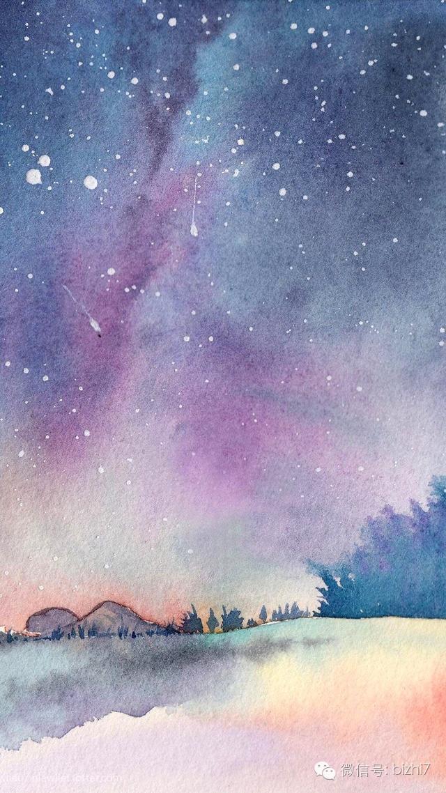 高清唯美手绘星空手机壁纸图片