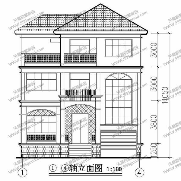 农村三层复式跃层别墅设计图图片