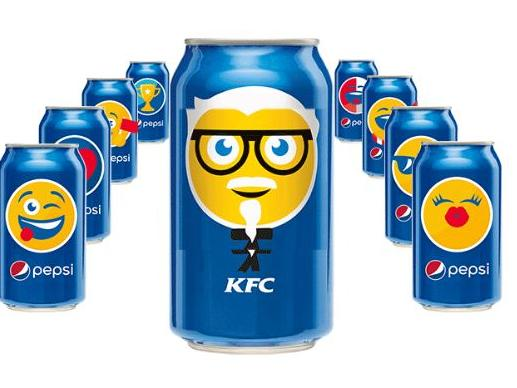 去年   月    日(世界 emoji 表情日),百事可乐推出一支用 emoji 表情图片