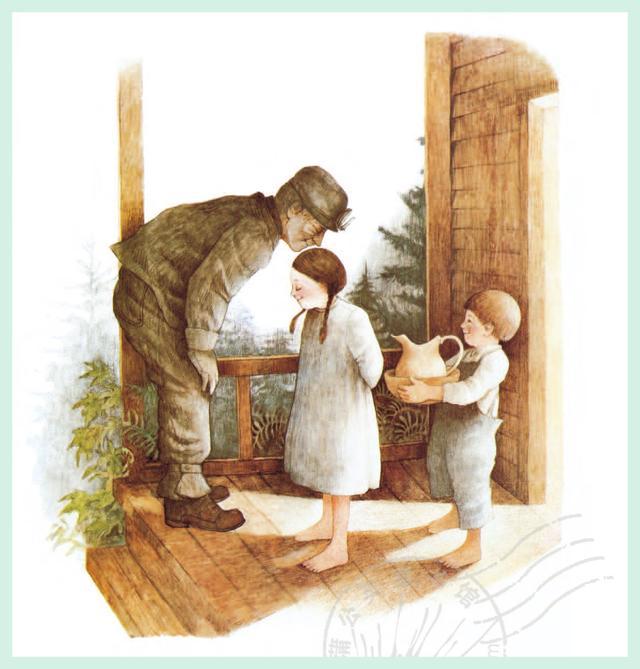 爷爷奶奶带她感受淳朴的情感,女孩4岁就住在山里