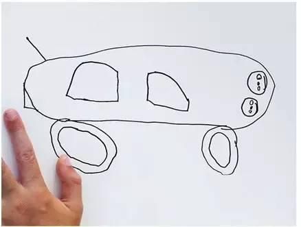 外国老爸将儿子的画P成了现实版,这画风要笑抽了