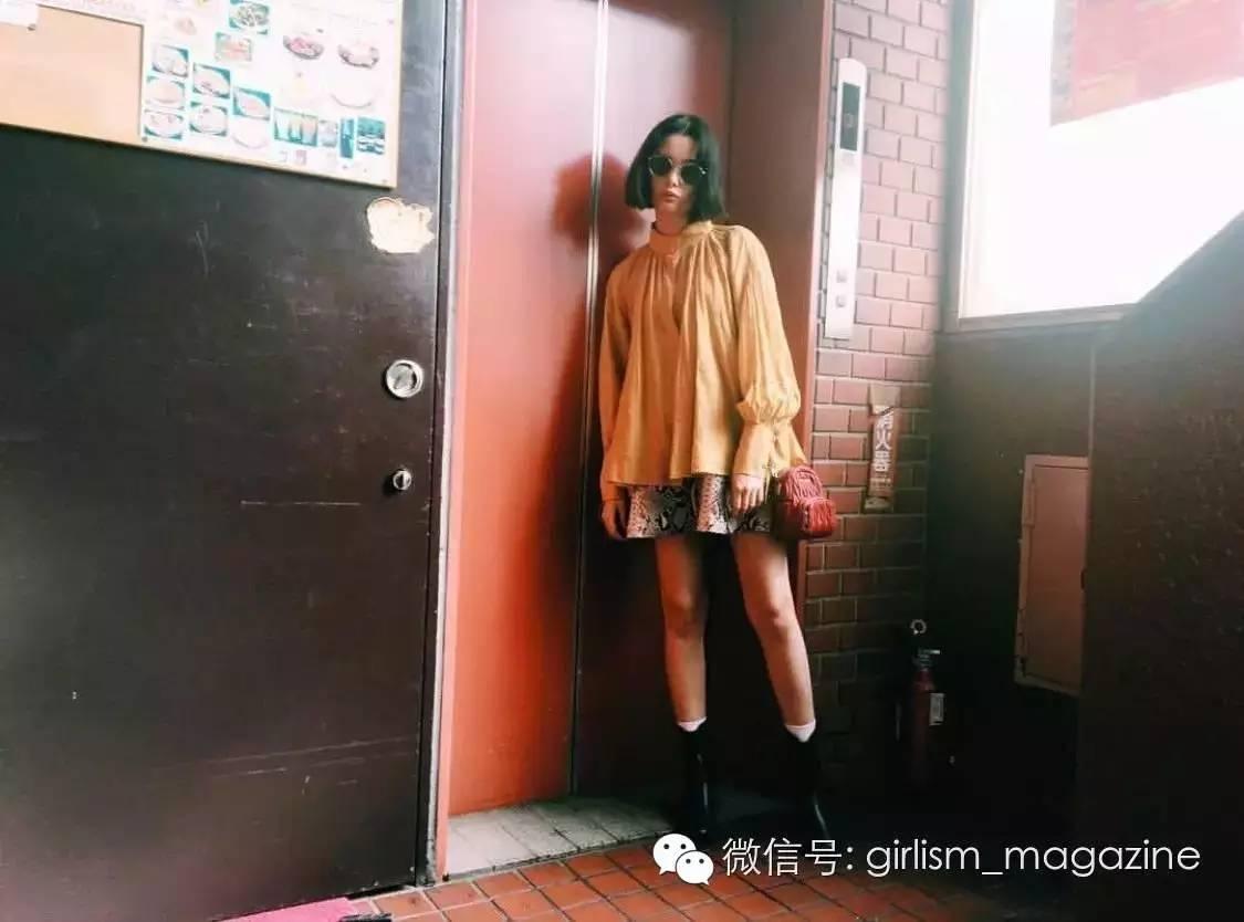 20少年简笔漫画人物图片位日本模特的秋日私服搭配