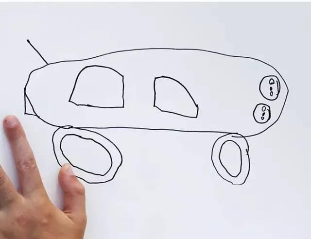 老爸把6岁儿子的简笔画P成现实版,是在太有爱了.