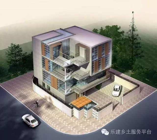 8米 结构形式:框架结构 本户型为带庭院的4层农村别墅,庭院自成空间