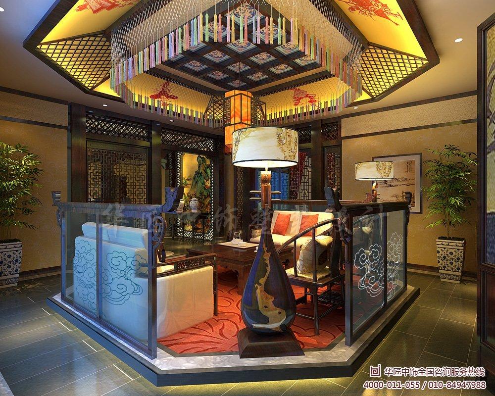 分享古典中式风格别墅装修效果图欣赏