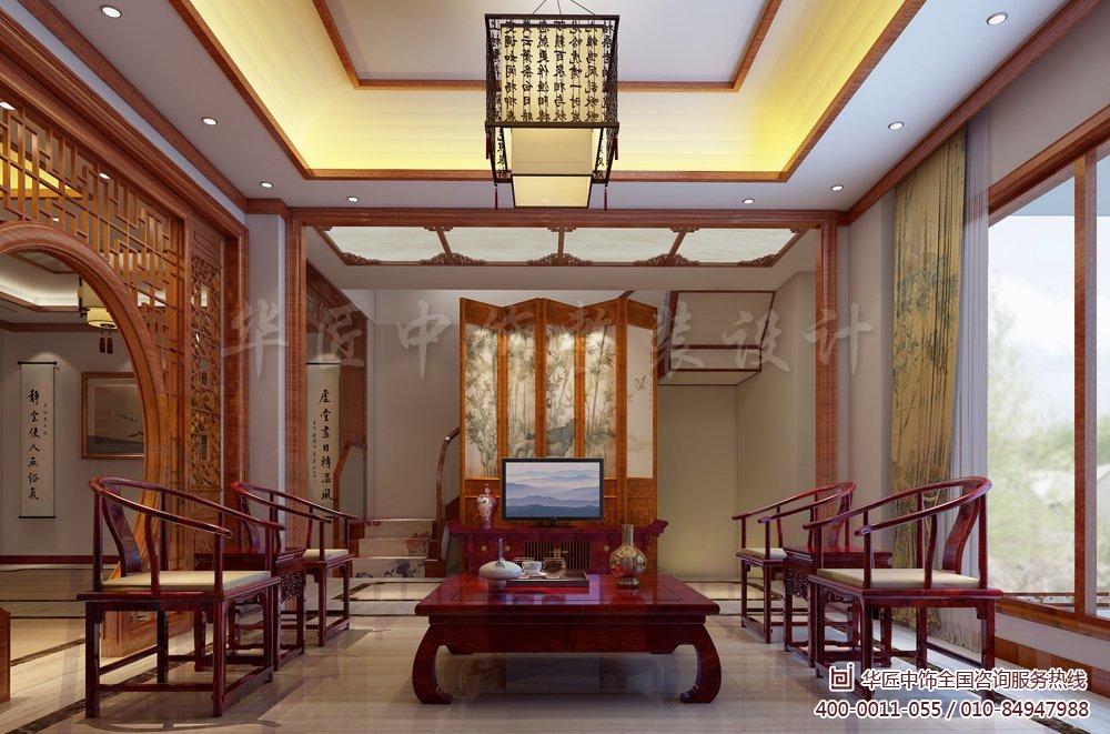 分享常州新中式风格别墅装修效果图欣赏图片