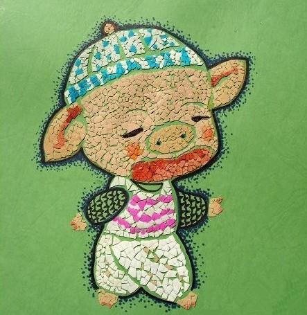 童创意画包括布贴画、豆子贴画、吹画、牙签画、鸡蛋壳画、毛线画、