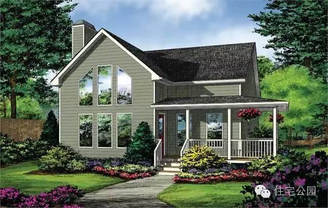 微信公众号:住宅公园,450套农村别墅图纸,建房预算,施工案例
