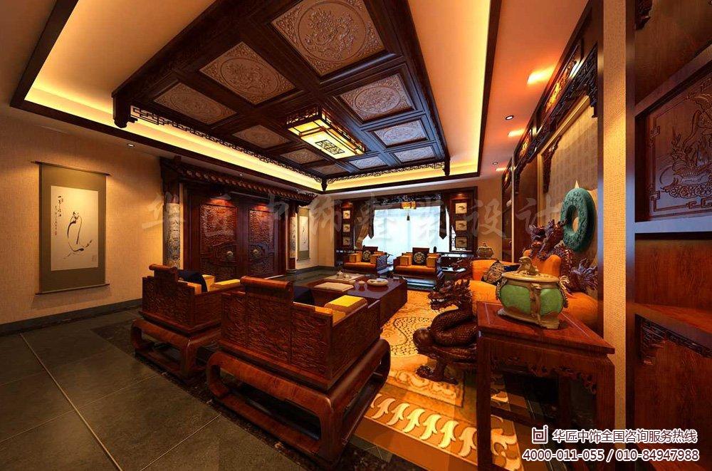 还合理的搭配了大量的红木中式家具以及精美雅致的小饰品,让这套家装