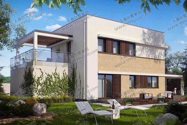 新农村现代两层别墅设计图效果图!图片