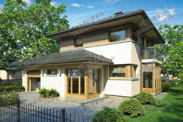 2套新农村经济时尚两层别墅设计图