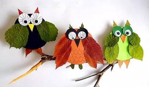 【教师篇】幼儿园秋季落叶粘贴画-落叶飘飘 漂亮的树叶贴画