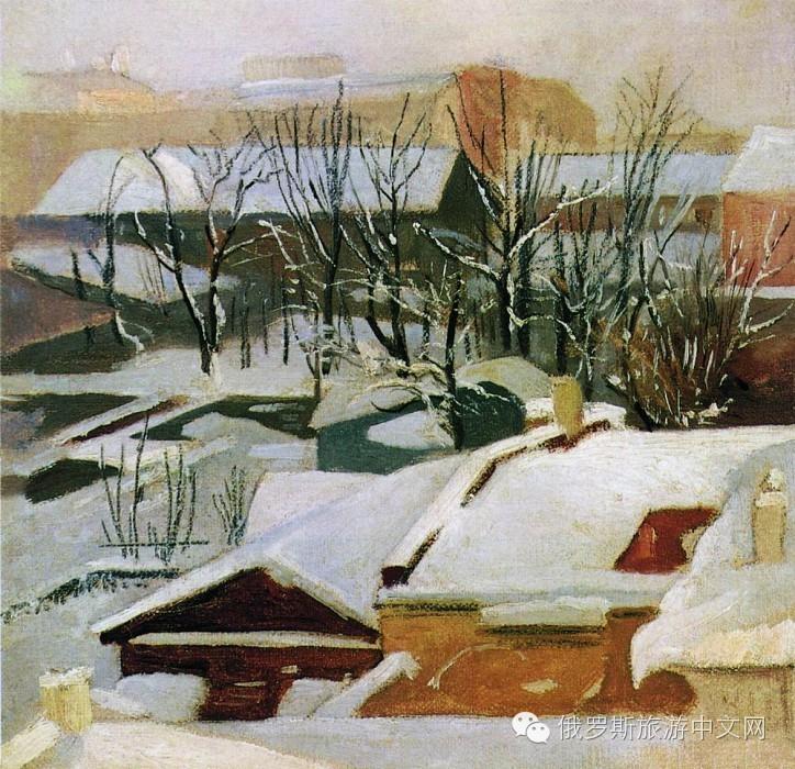 俄罗斯四大风景画大师笔下的魅力冬天,是冰天雪地也是风光无限