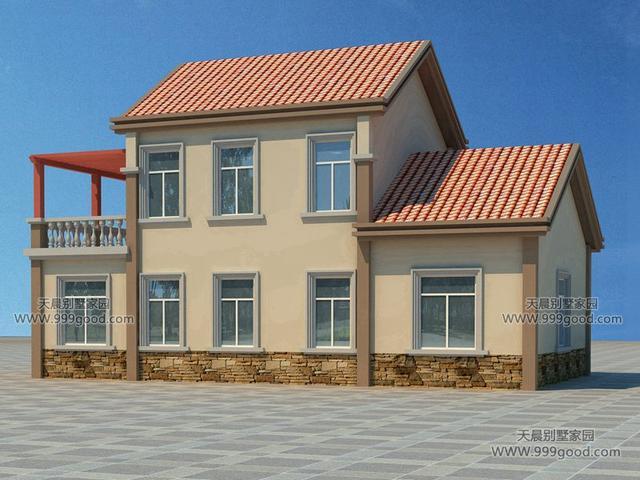 2套新农村经济时尚两层别墅设计图!