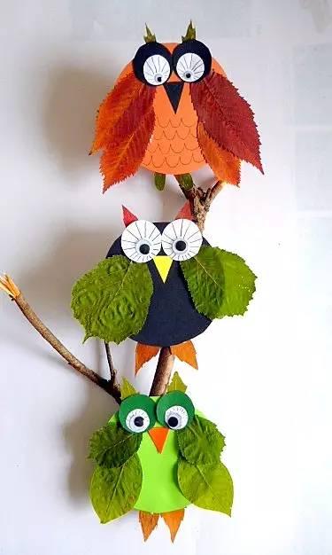 【教师篇】幼儿园秋季落叶粘贴画