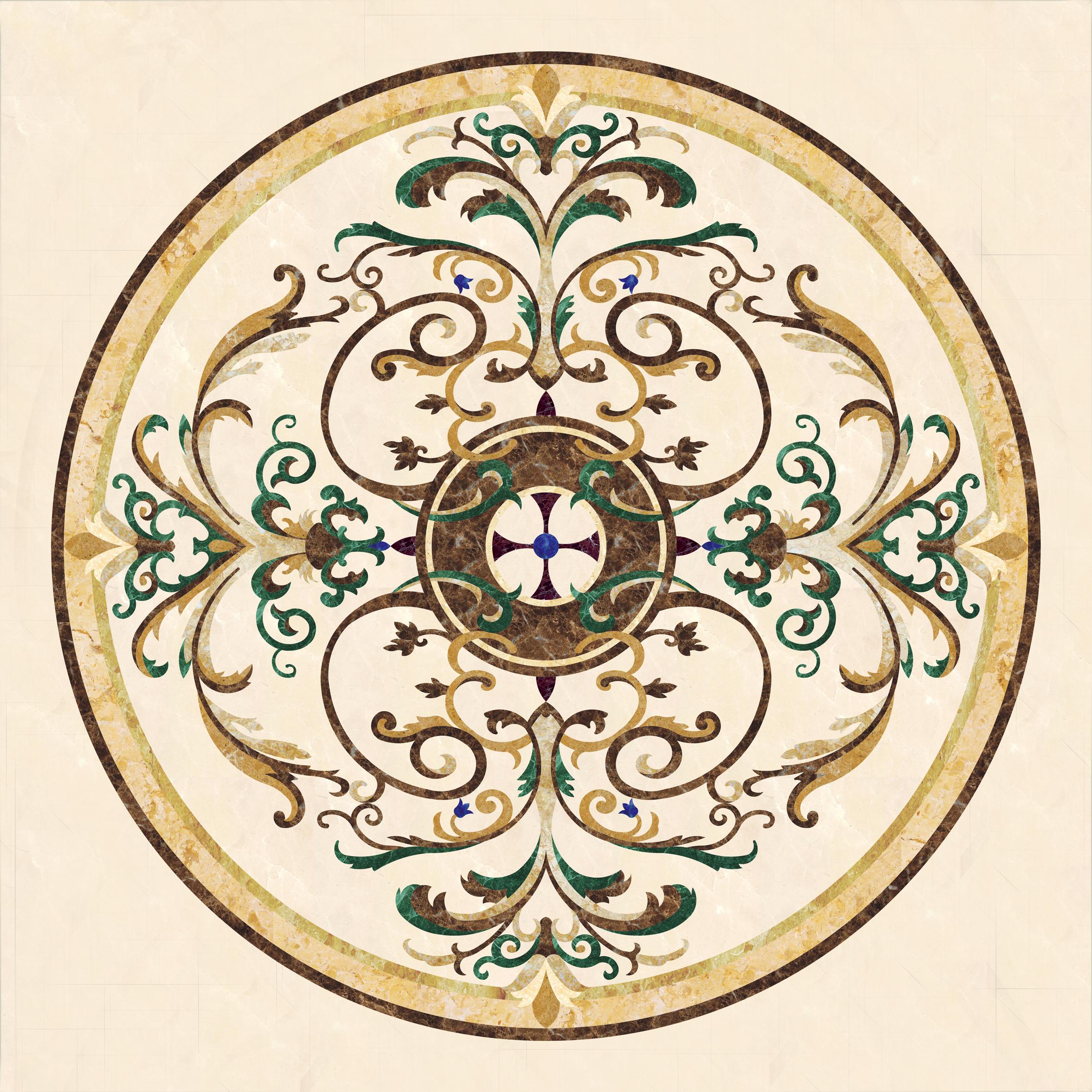 自然形状花纹图案:以无规律变化的几何形