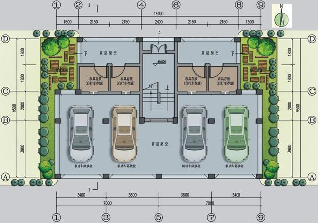 10x11米农村建房平面图