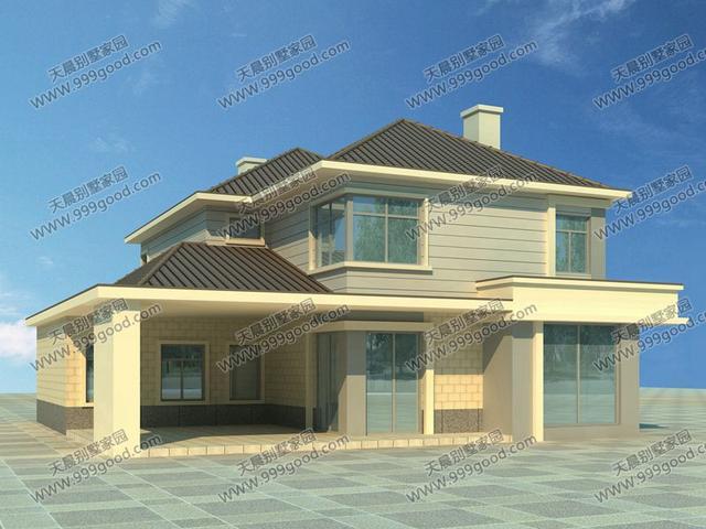 新农村田园风二层别墅设计图,造价不过20万!