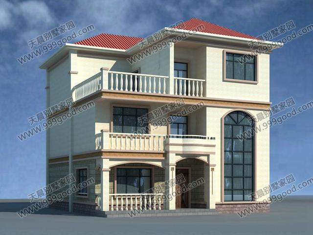 农村三层别墅设计图,挑空设计大气美观!