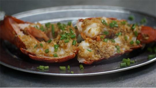 炭火烤琵琶虾