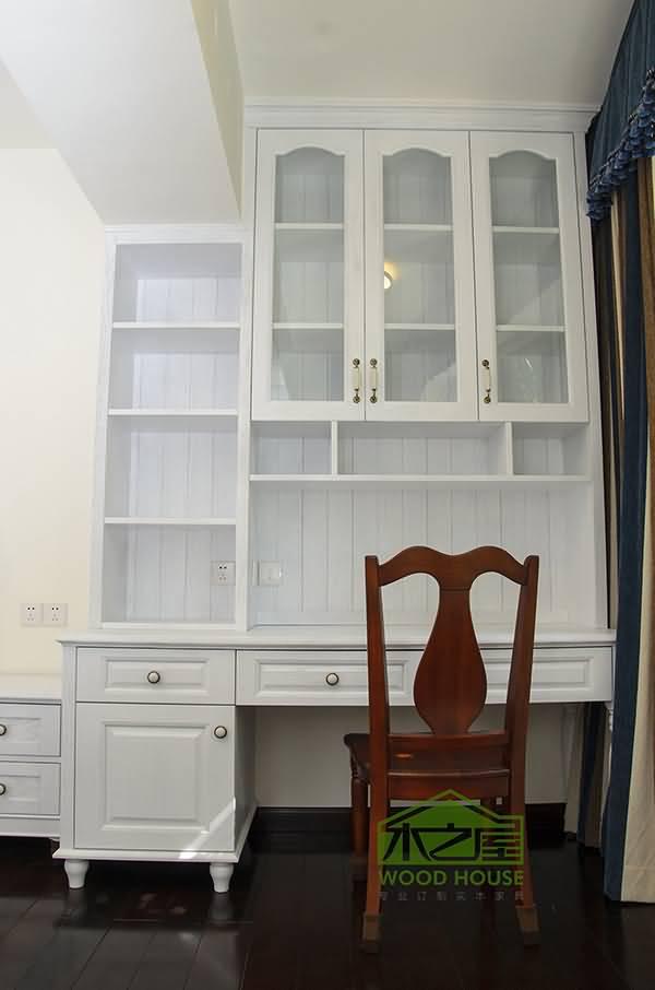 木材可选) 台湾大宝木器漆 量身定制 家具标签:书桌书柜效果图|书桌