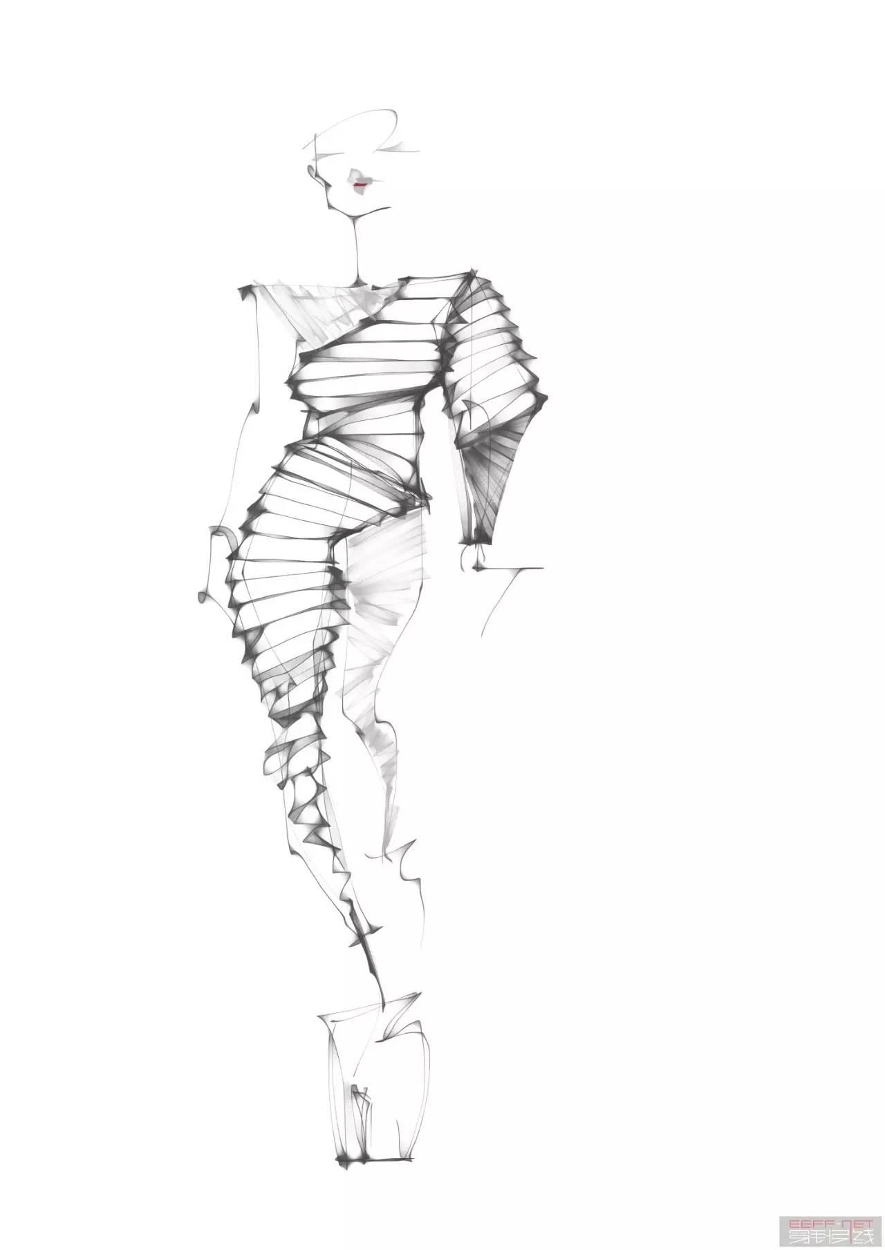 [原创设计稿] 服装手绘,电脑手绘,手绘人体练习