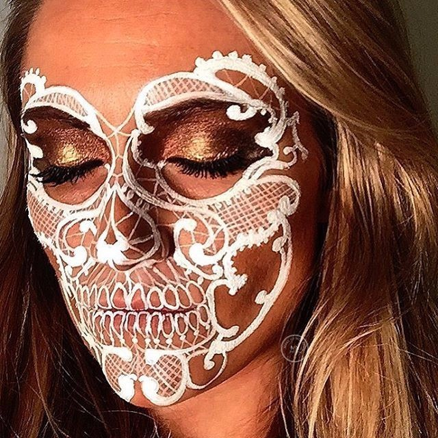 Face Paint Skeleton Girl