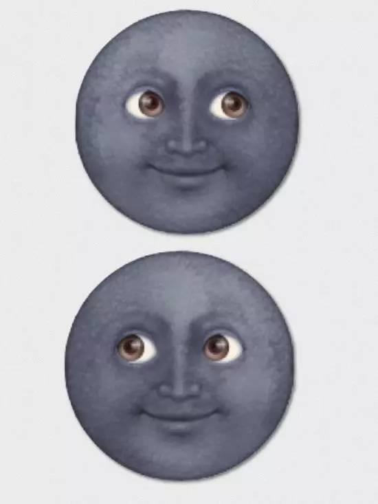 """那么你有没有觉得苹果 emoji 表情中最魔性的""""黑脸月亮""""也迷之熟悉呢?图片"""