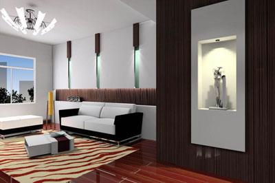 成都装饰设计欧式风格电视背景墙
