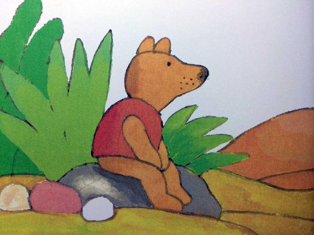 幼儿手工石头画青蛙