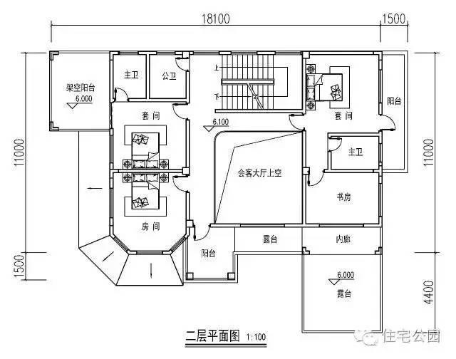 15x18米经典农村别墅,带地下室含堂屋,含平面图